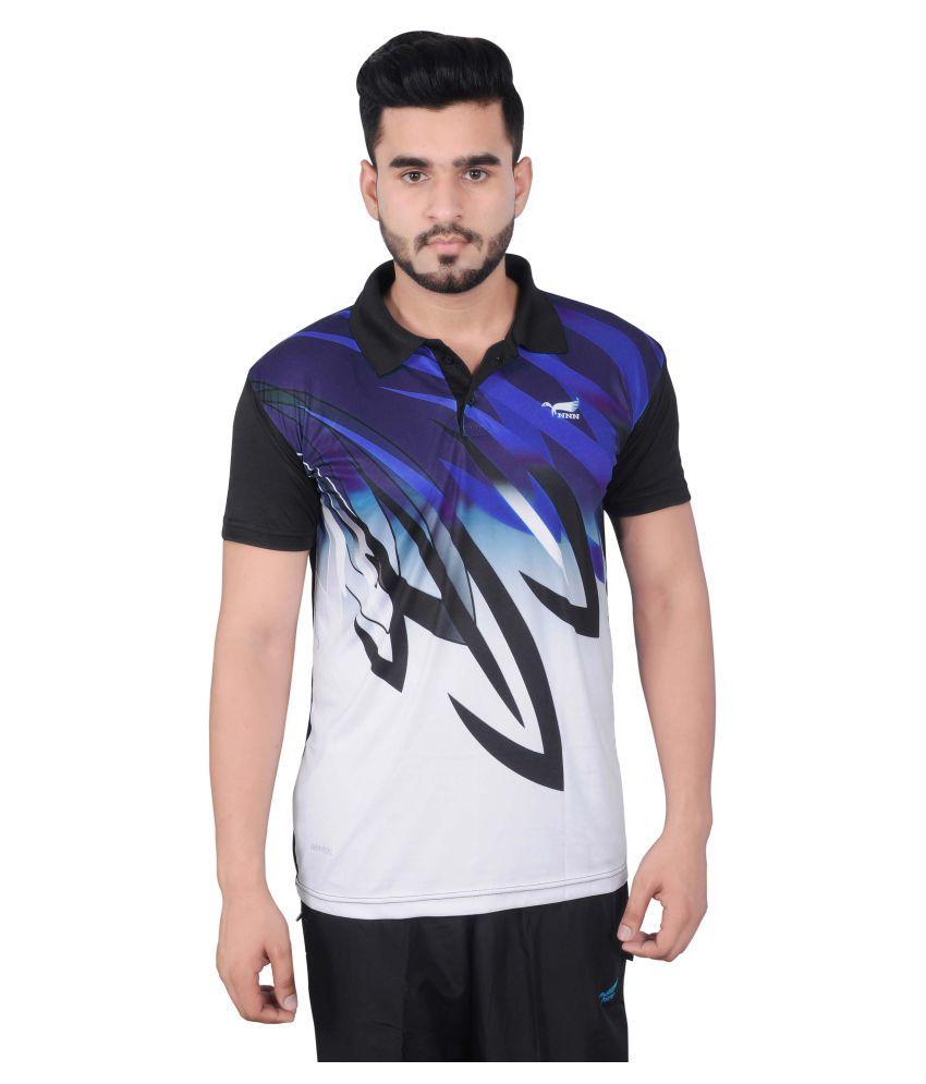 NNN Multicolour Polyester Polo T-Shirt for Men