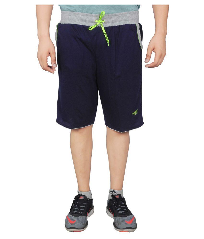NNN Navy Cotton Shorts