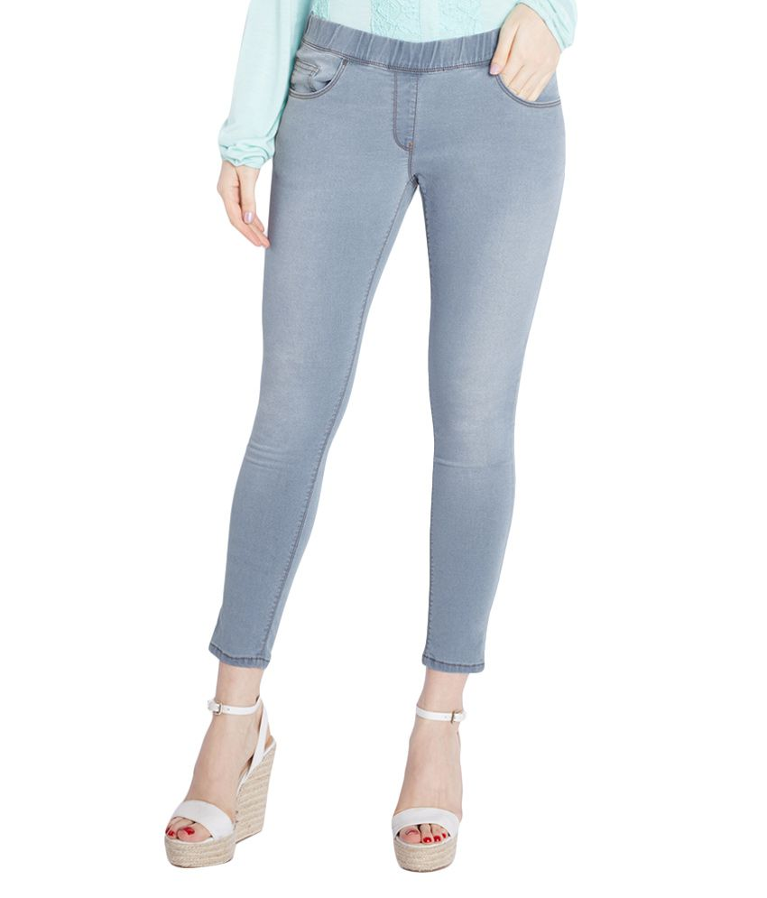 64a49341c7dba Buy Park Avenue Woman Blue Solid Skinny Fit Jeans Online at Best Prices in  India - Snapdeal