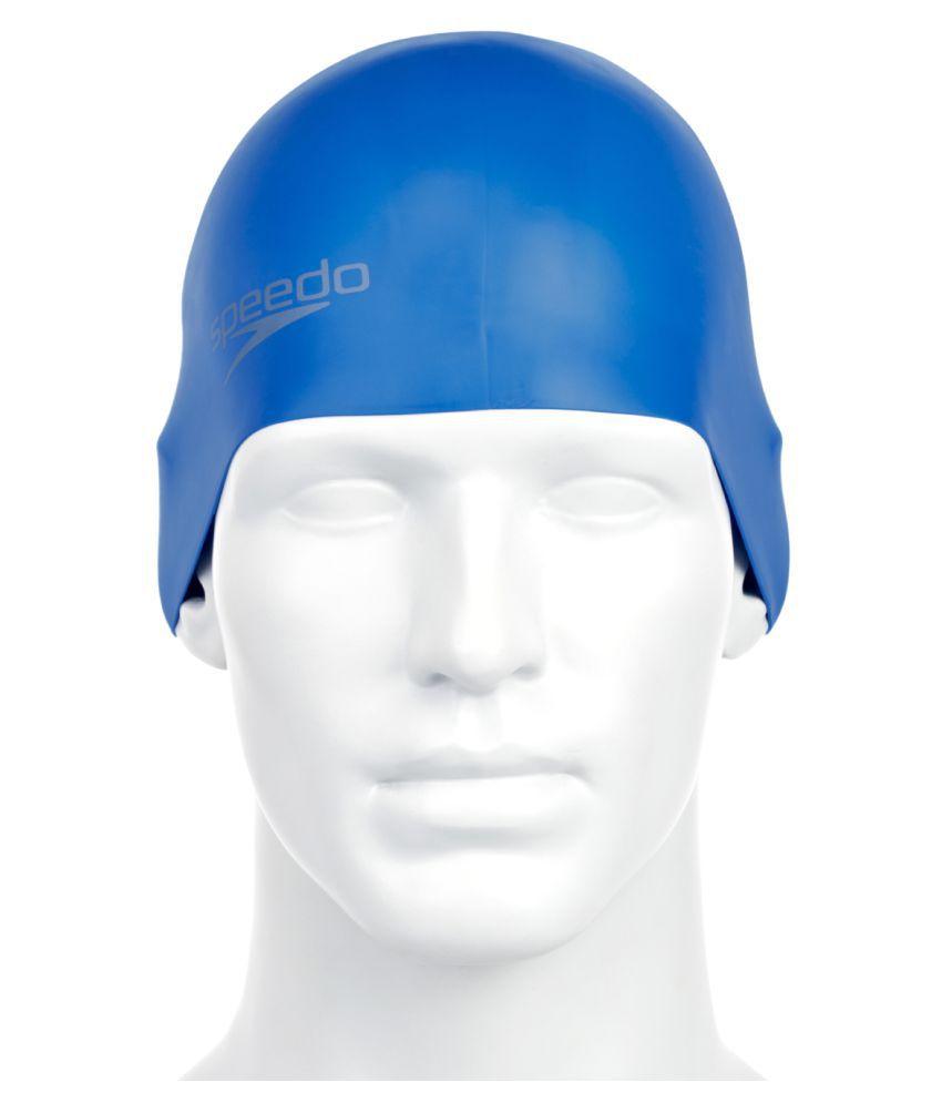 Speedo Adult Blue Silicone Swimming Cap L
