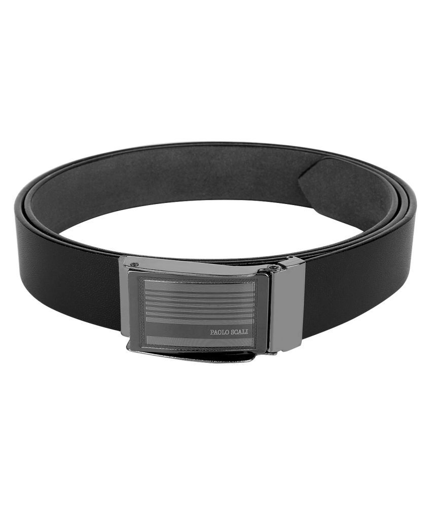 Dogwood Black Leather Formal Belts