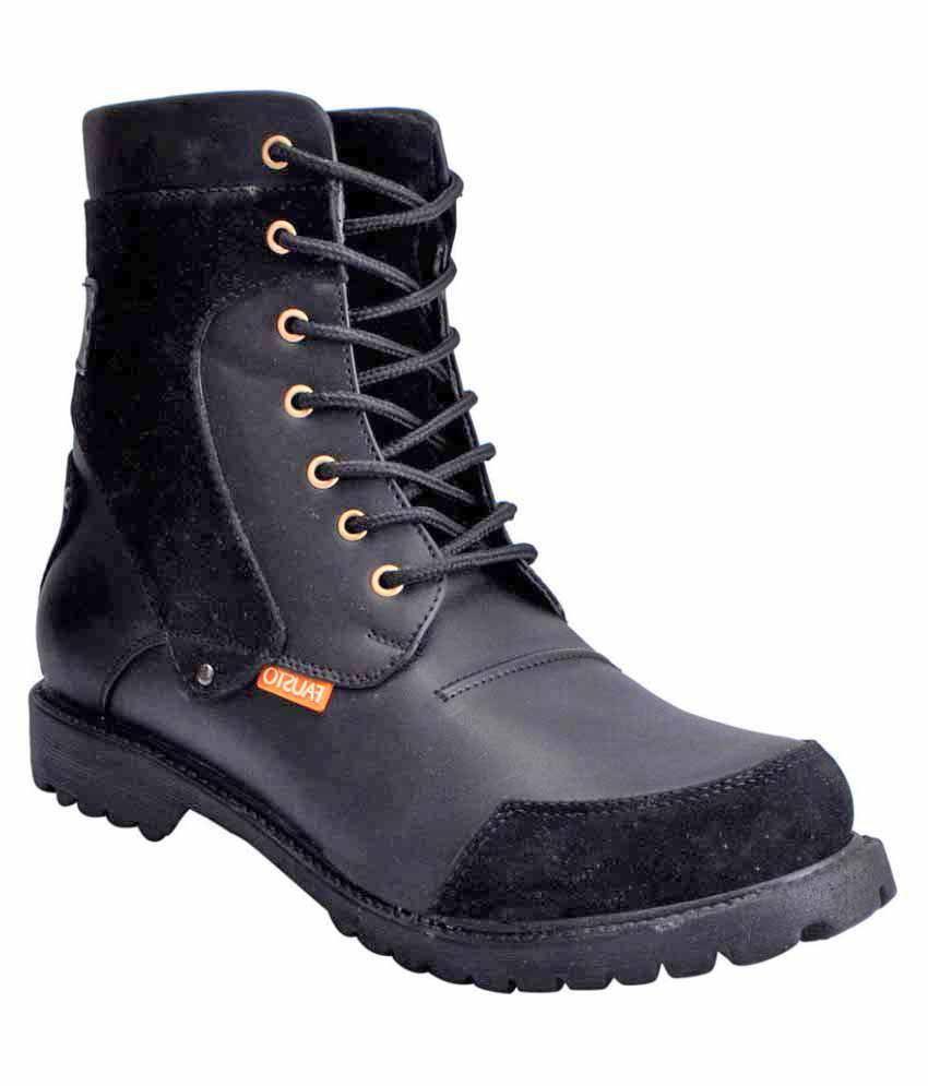 Fausto Black Casual Boot