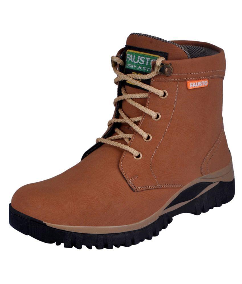 Fausto Brown Hiking & Trekking Boot