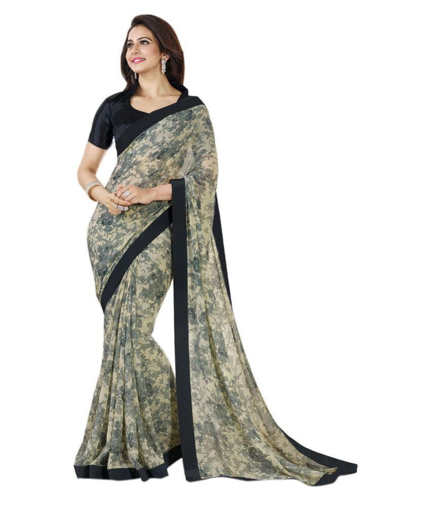 7126fb4703 Ladies Flavour Multicoloured Georgette Saree - Buy Ladies Flavour  Multicoloured Georgette Saree Online at Low Price - Snapdeal.com