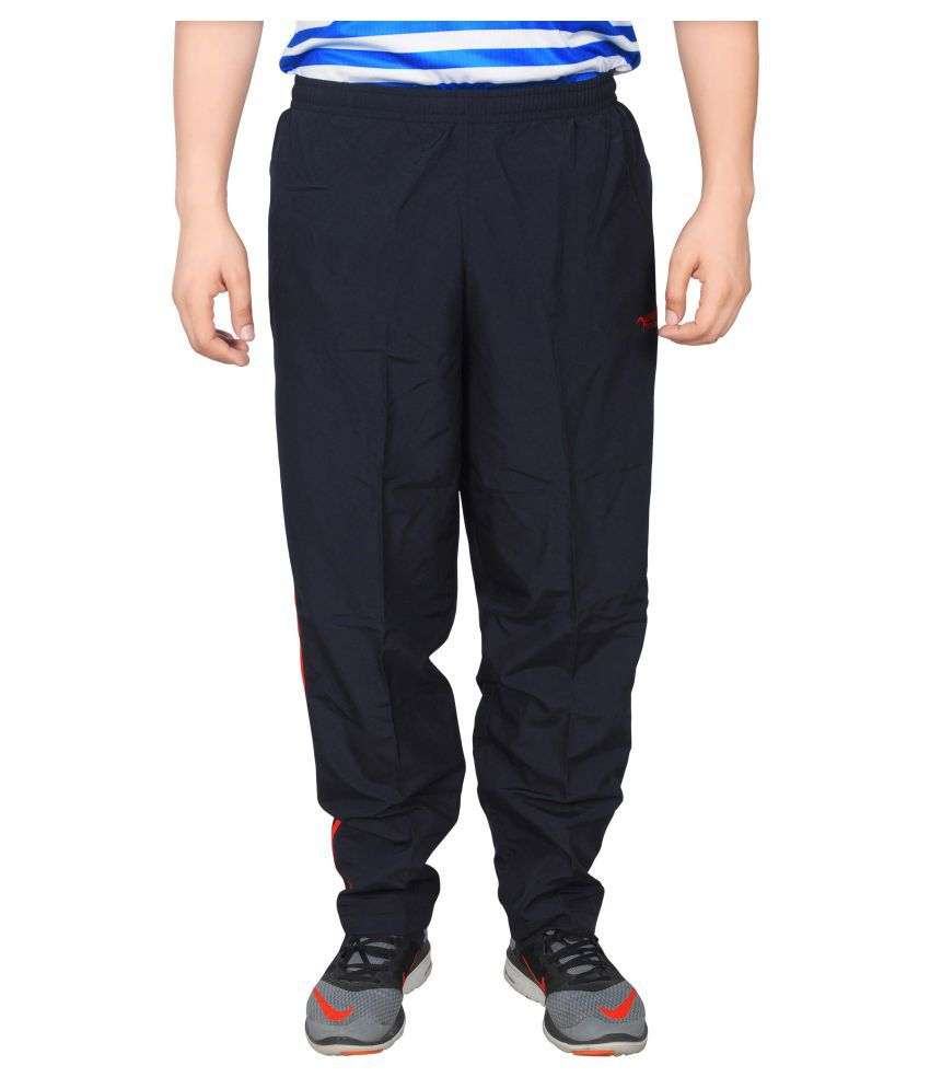 NNN Black Polyester Trackpants