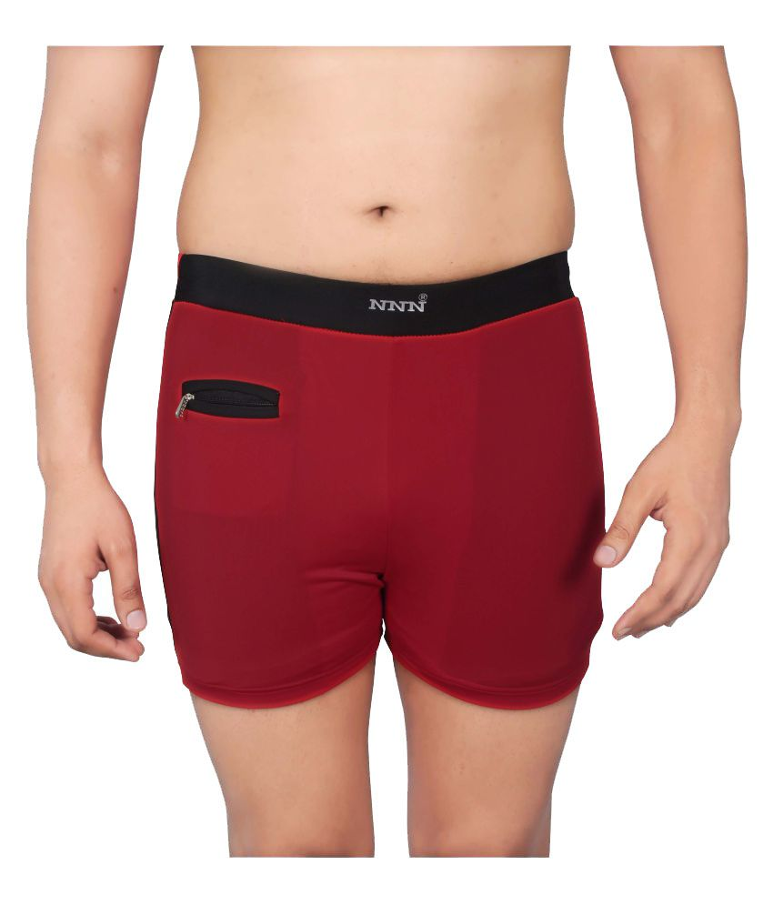 NNN Red Lycra Swimming Trunk/ Swimming Costume