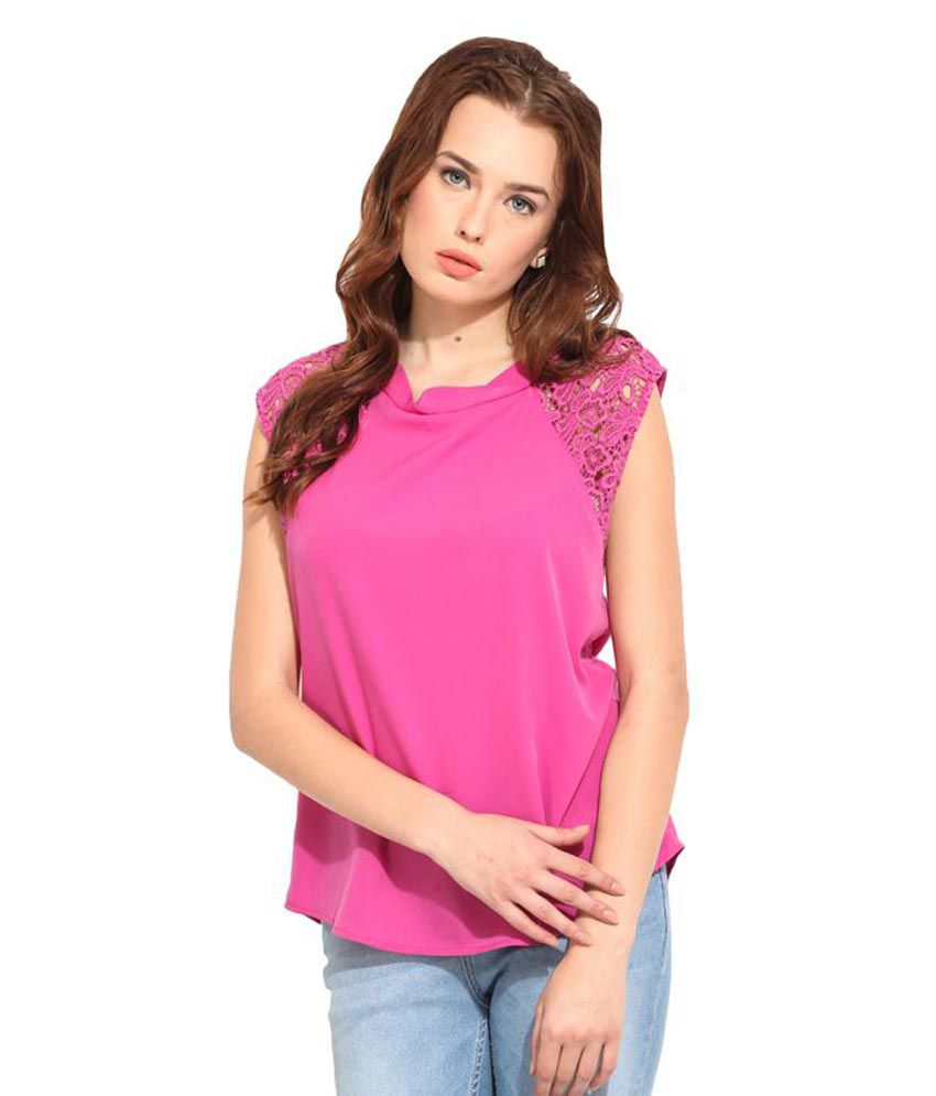 504f2aff4cf Blue Sequin Pink Polyester Regular Tops available at SnapDeal for Rs.399