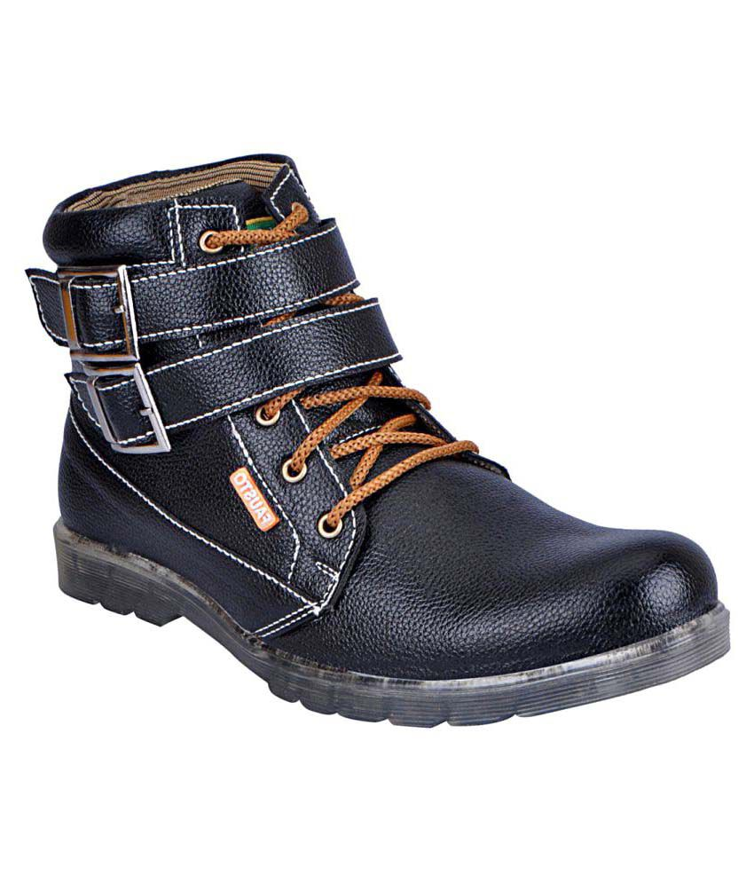 Fausto Black Casual Boot