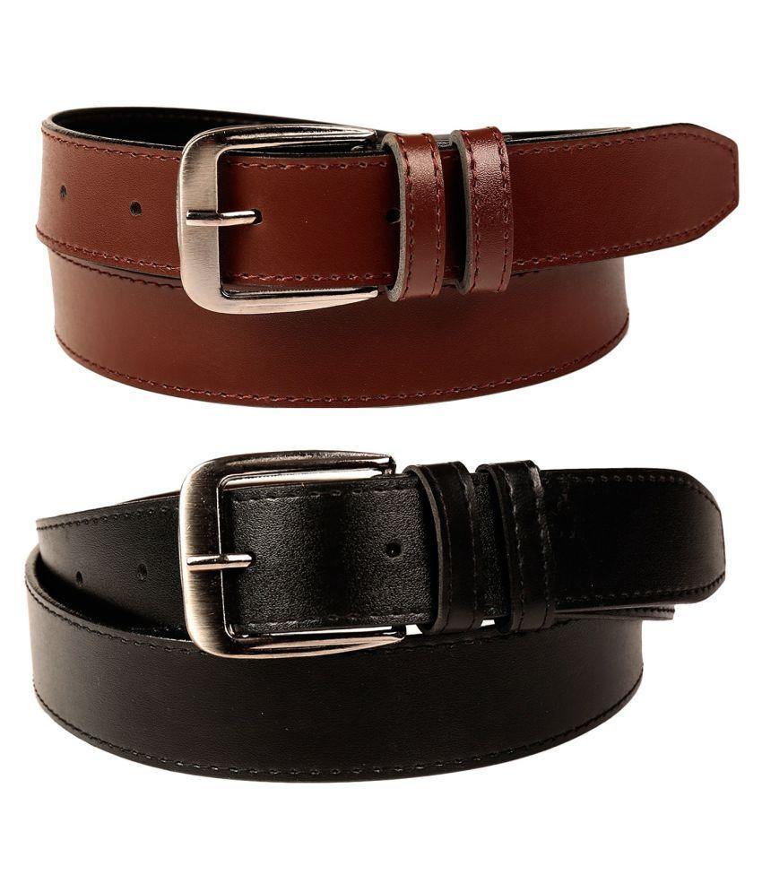 Fedrigo Multi Faux Leather Casual Belts - Pack of 2