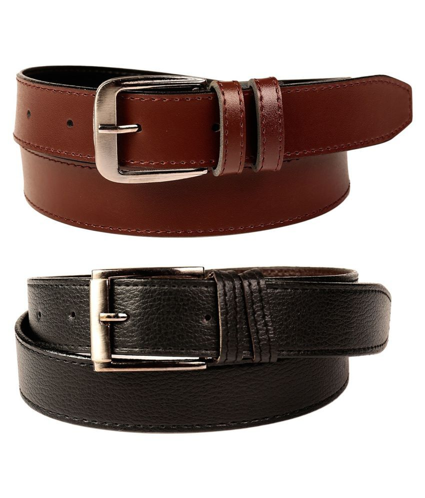 Fedrigo Multi Faux Leather Casual Belts - Pack of 2