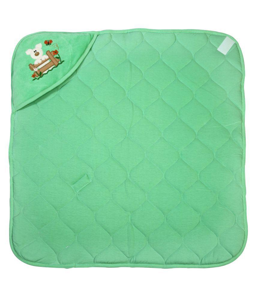 Brim Hugs & Cuddles Green Baby Wrapper Baby Blanket/Baby Swaddle/Baby Sleeping Bag