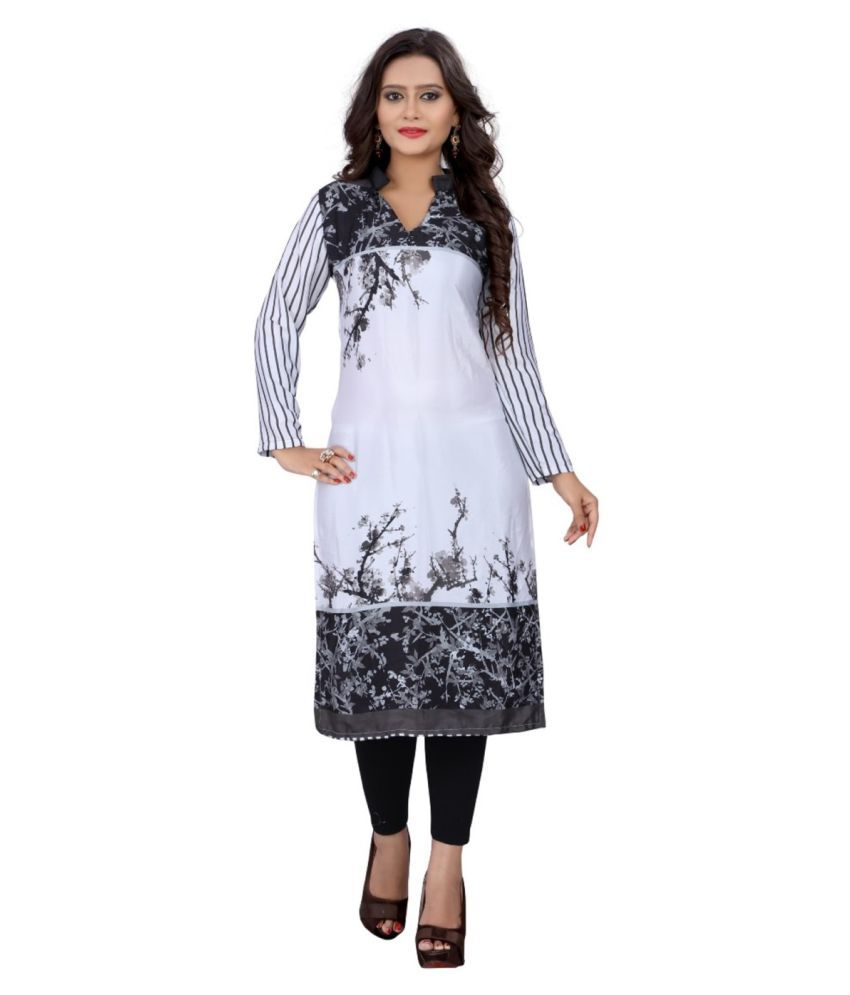 Glamorous Multicoloured Crepe Straight Kurti