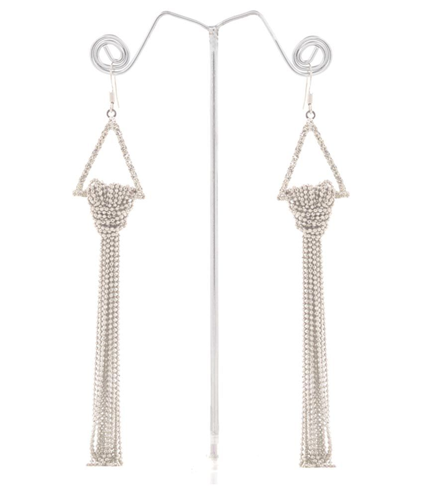 Shobhanita Silver Hanging Earrings