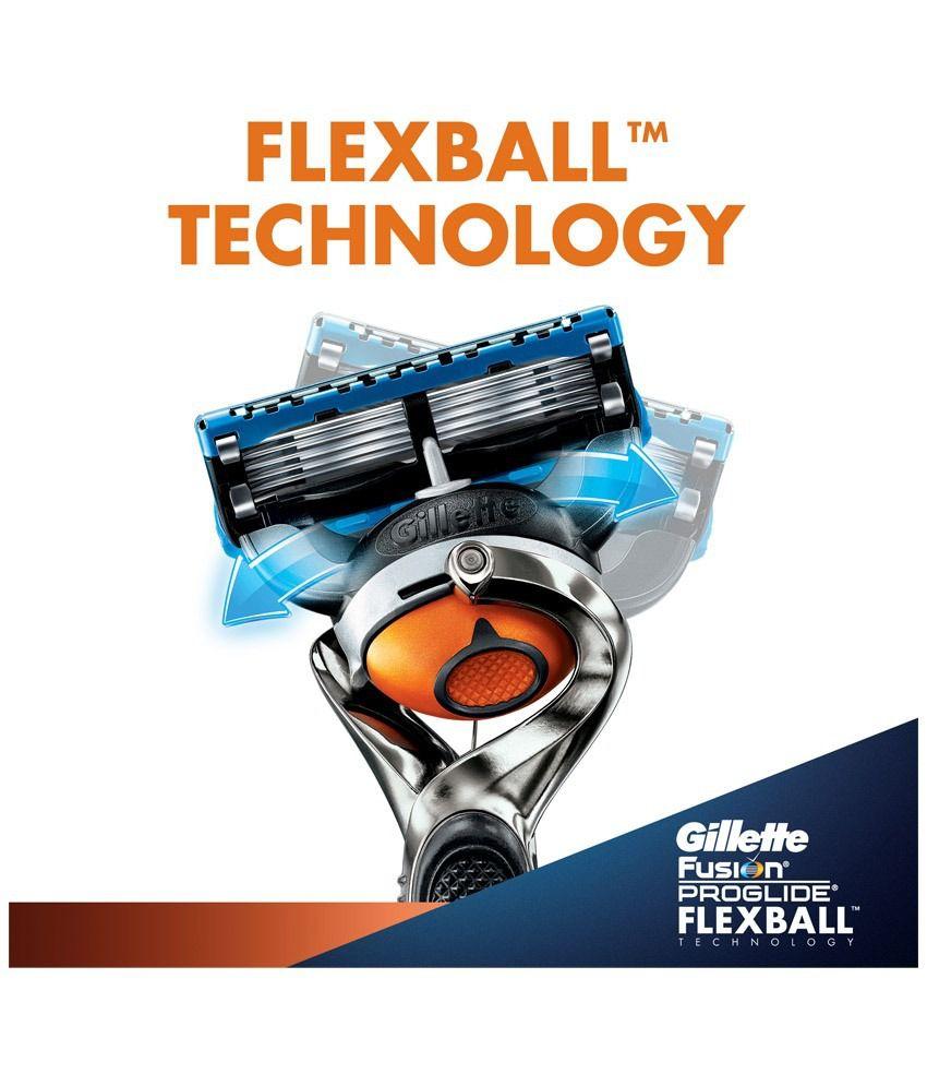Gillette fusion proglide manual razor with flexball technology -  Gillette Fusion Proglide Flexball Manual Shaving Razor