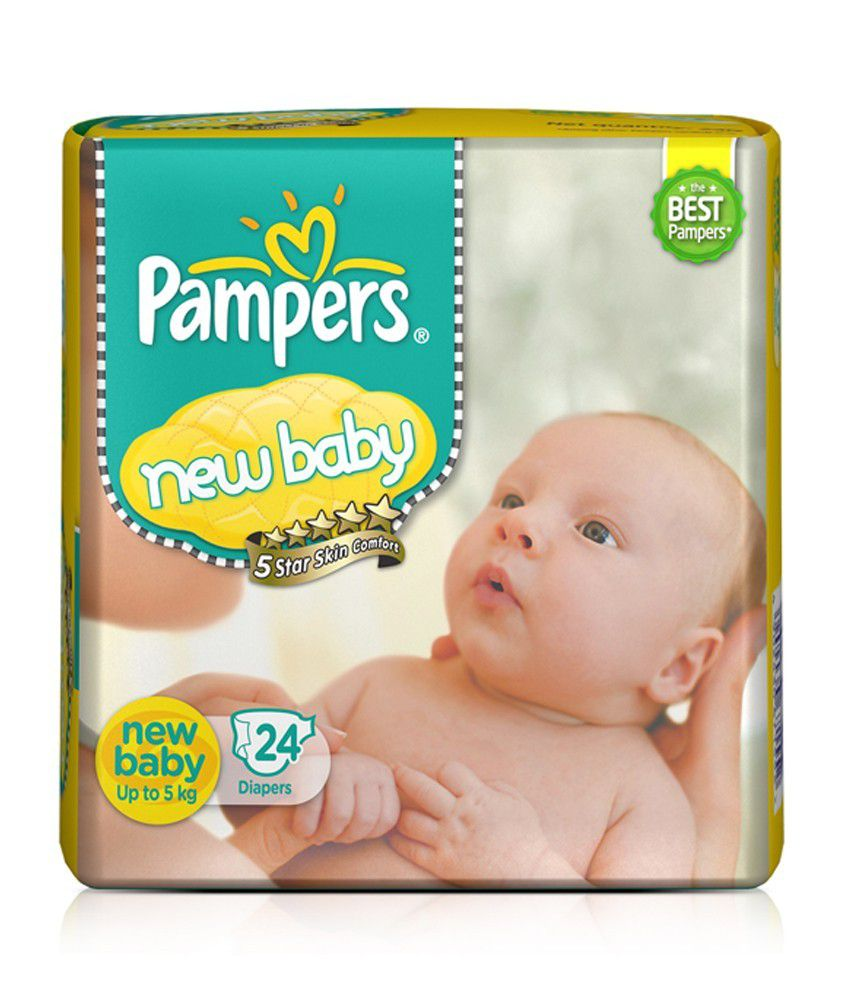 pampers active baby new born size diapers 24 pc pack buy. Black Bedroom Furniture Sets. Home Design Ideas