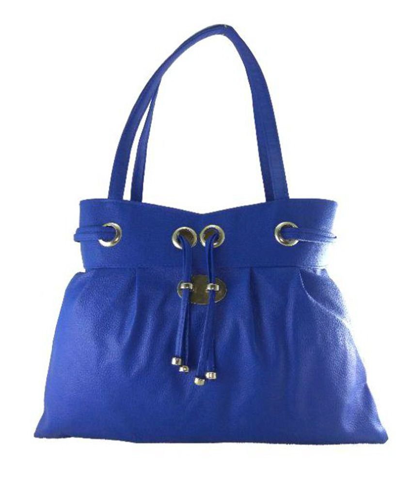 Panashe Blue P.U. Shoulder Bag