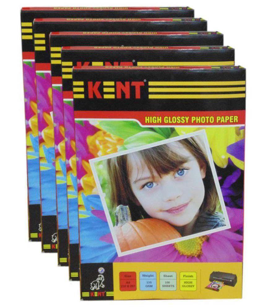 Kent Photo Paper High Glossy 135 gsm 100 Sheet - Set of 5