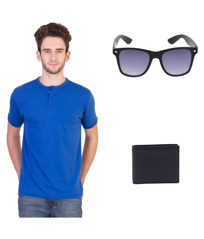 Keepsake Blue Henley T-Shirt Pack of 3