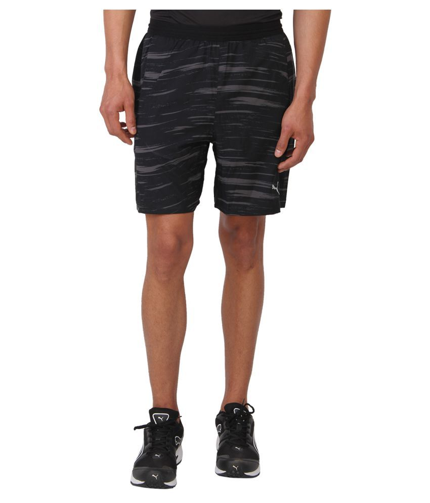 Puma Black Cotton Shorts