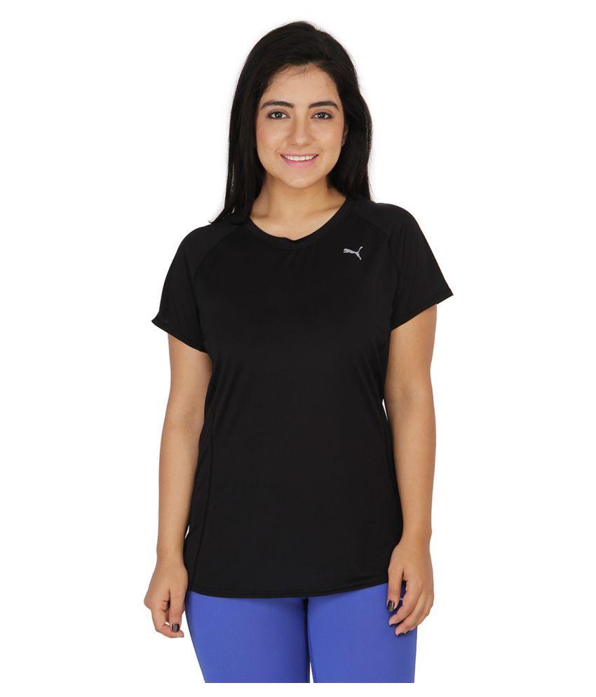 Puma Black Polyster T Shirts