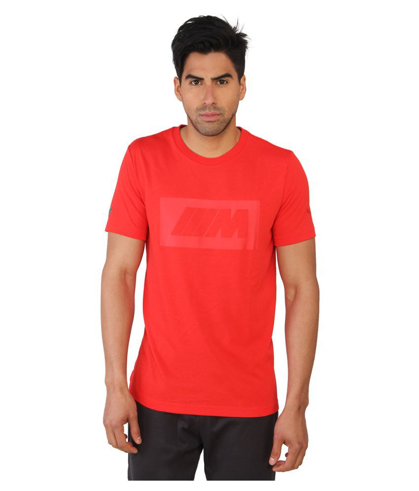 Puma Mens Solid Red T-shirt
