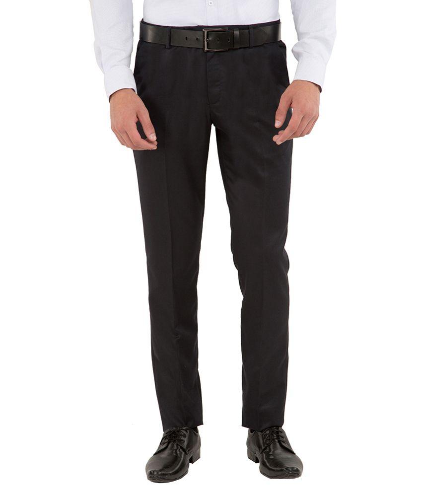 Black Coffee Navy Slim Fit Trousers