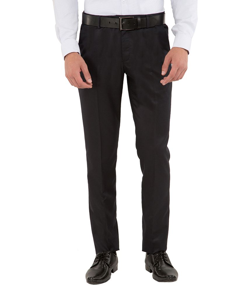 Black Coffee Navy Slim Fit Trousers