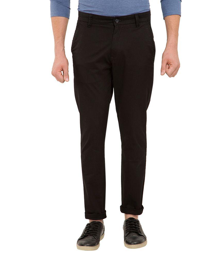 Highlander Black Slim Fit Trousers