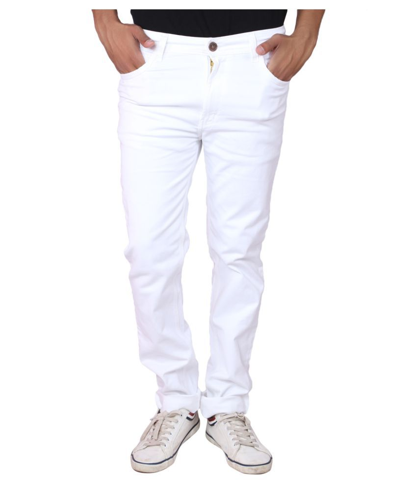 X20 Jeans White Relaxed Solid