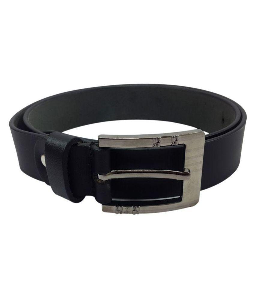 Oglivay Black Leather Casual Belts