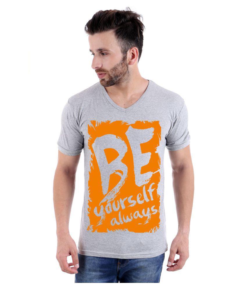 KatsoDesigns Grey V-Neck T-Shirt