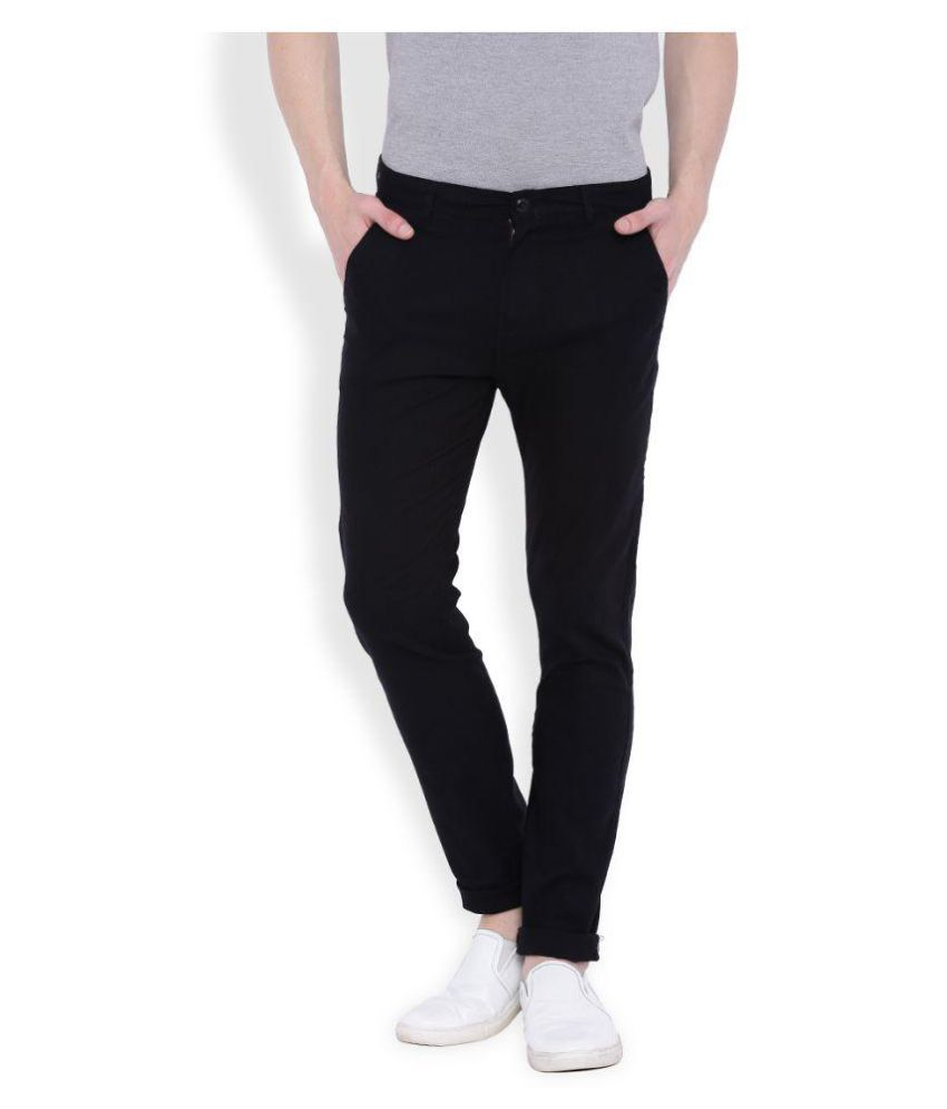 Deep Navy Green Slim Flat Trouser