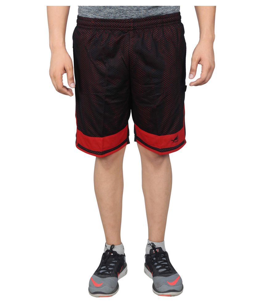 NNN Black Polyester Shorts