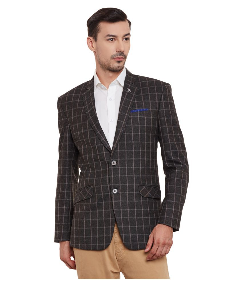Canary London Grey Checks Casual Tuxedo