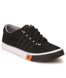 Sparx SC0162G Black Canvas Casual Shoes