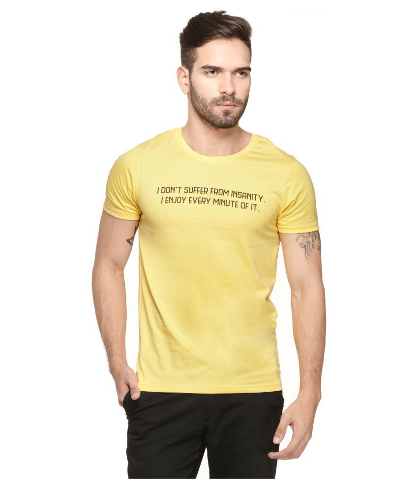 Mode Vetements Yellow Round T-Shirt