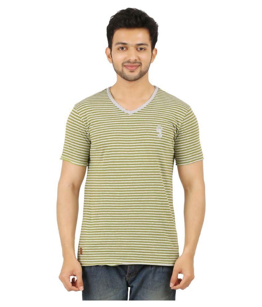 Rollear Green V-Neck T-Shirt