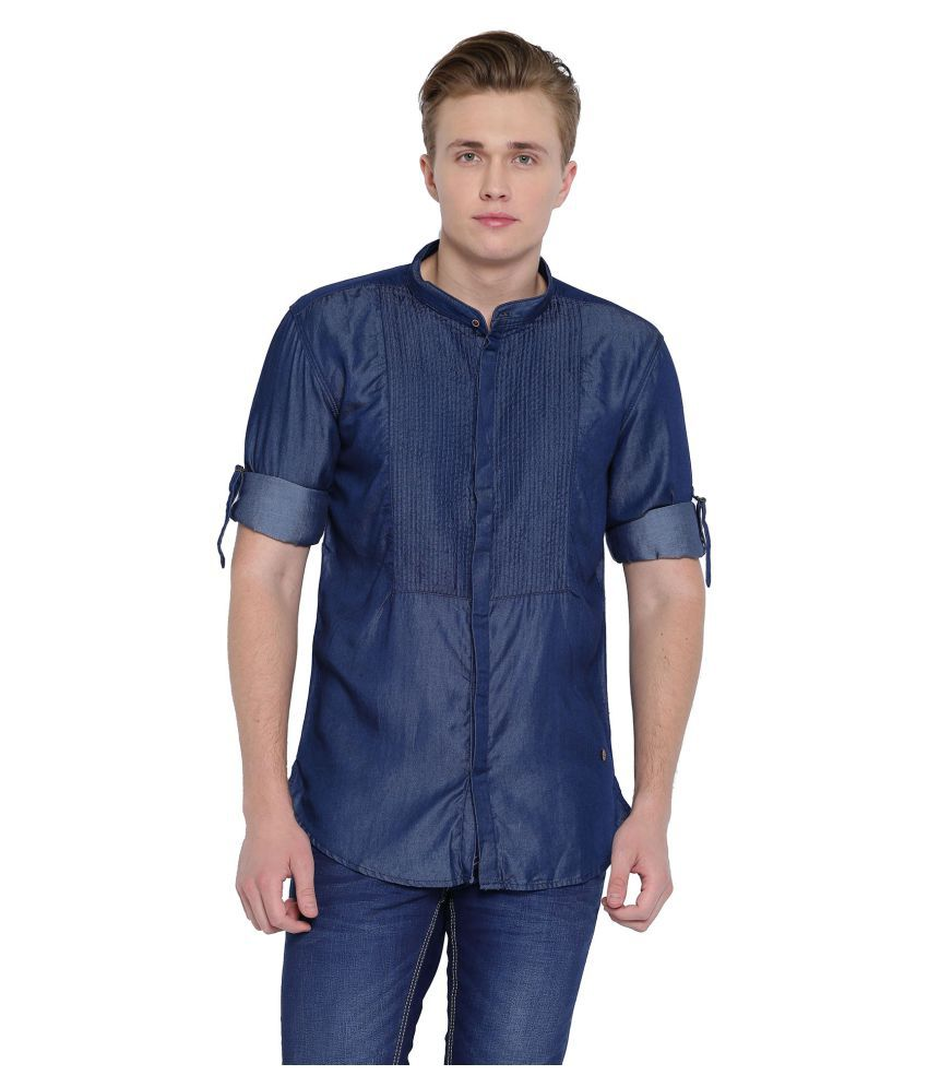 With Navy Casuals Slim Fit Shirt