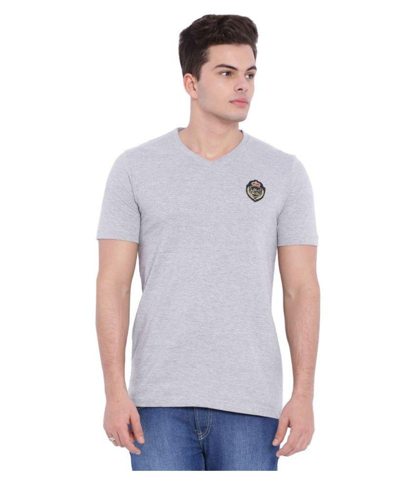 L.A. Seven Grey V-Neck T-Shirt