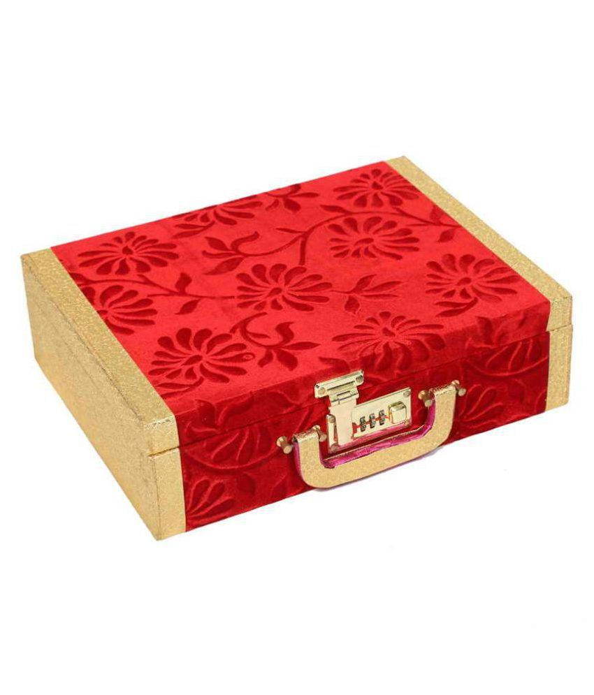 Kuber industries Red Wooden Bangle Box