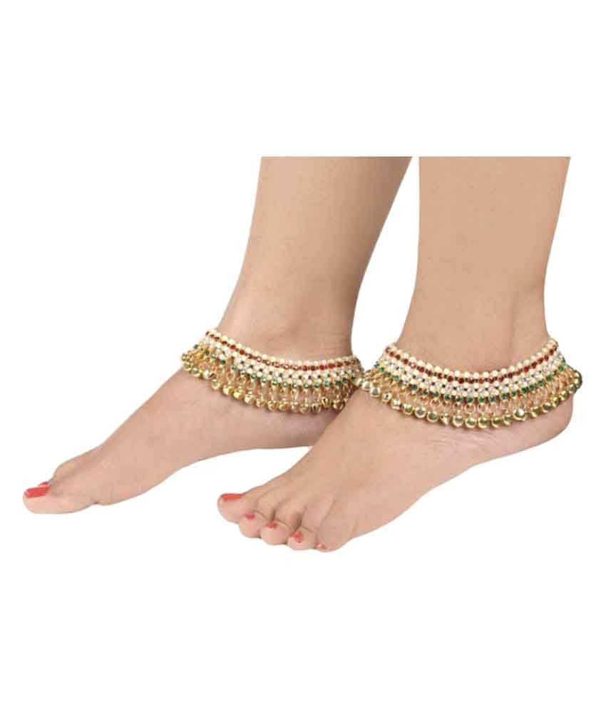 Riana Multicolour Pair of Anklets