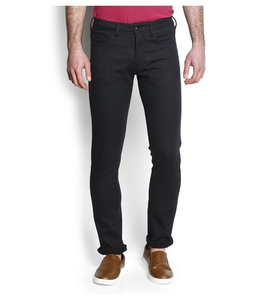 Blackberrys Black Tapered Flat Chinos