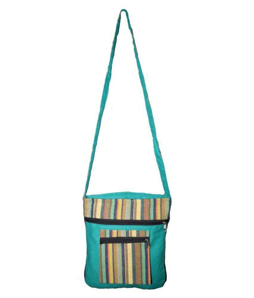 HR Handicrafts Multi Canvas Sling Bag