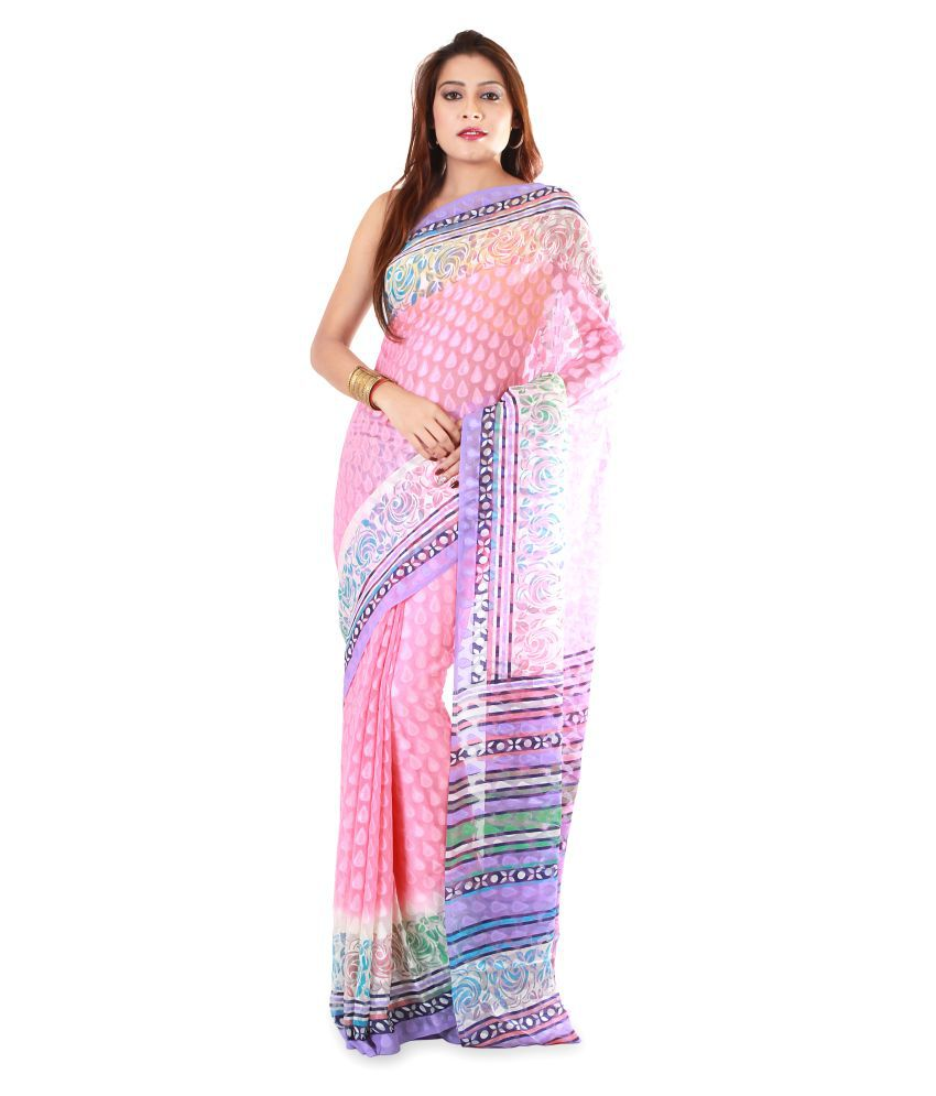Manpasand Creations Multicoloured Brasso Saree