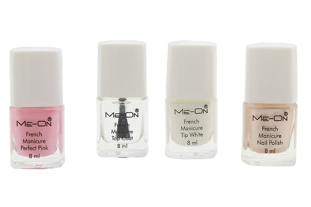 Me-On French Manicure Nail Polish Multicolour Glossy 300 gm: Buy Me ...