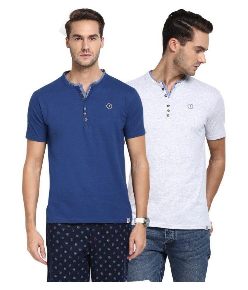 Joven Multi Henley T-Shirt Pack of 2