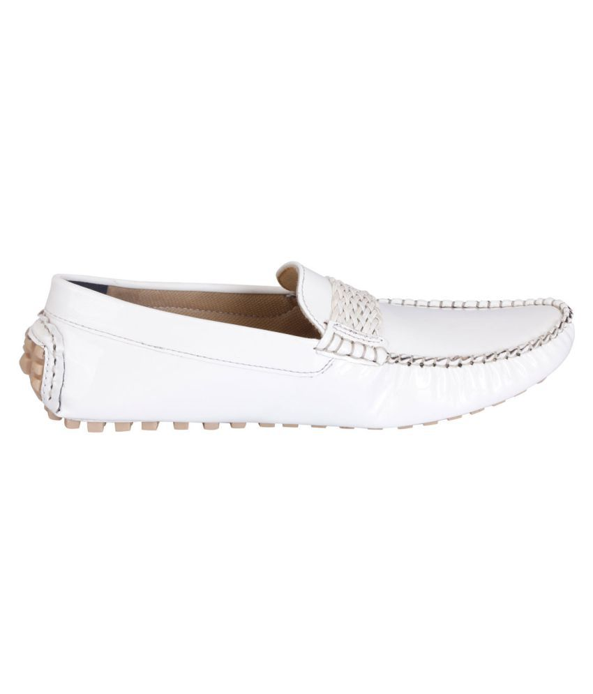 2e0c91fecff Fausto White Loafers - Buy Fausto White Loafers Online at Best ...