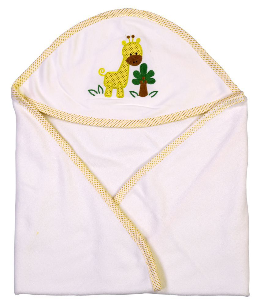Brim Hugs & Cuddles White Baby Wrapper Baby Blanket/Baby Swaddle/Baby Sleeping Bag