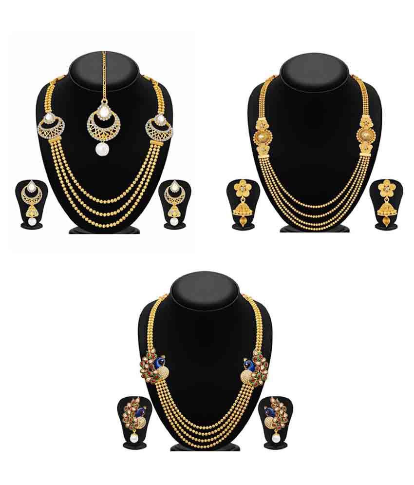 Sukkhi Multicolour Necklace Set - Set of 3