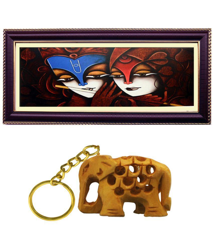 Janki God Radha Krishna Love Wood Art Prints With Frame 2 combination